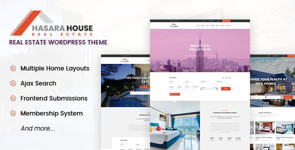 قالب Hasara House - قالب وردپرس املاک