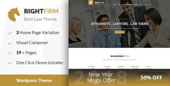 قالب Right Firm - قالب وردپرس شرکت حقوقی