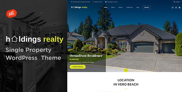 قالب Holdings Realty - قالب تک ملک وردپرس