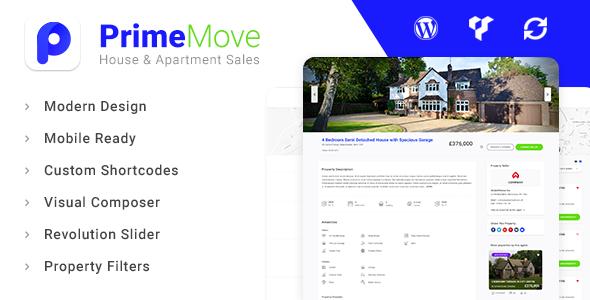 Primemove - قالب وردپرس بنگاه معاملات ملکی