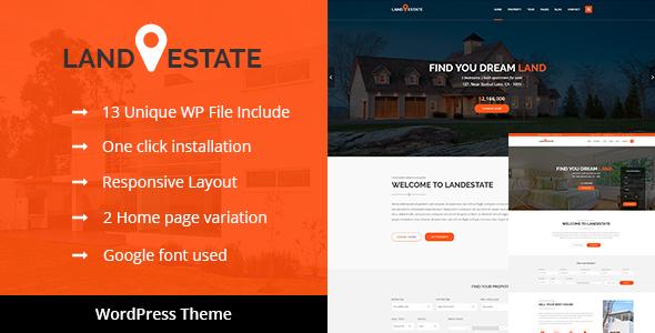 قالب Land Estate - قالب وردپرس سایت املاک