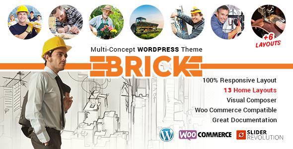 قالب Brick - قالب وردپرس چند مفهومی