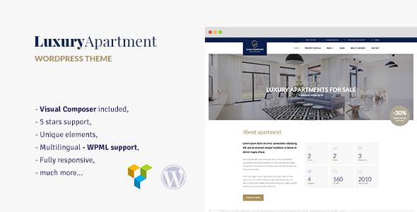 Luxury Apartment - قالب وردپرس تک ملک