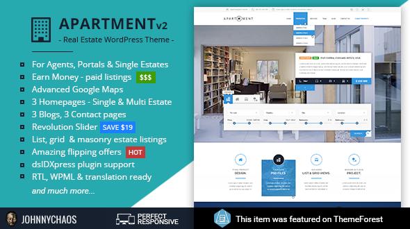 آپارتمان | Apartment WP - قالب وردپرس ثبت املاک و پرتا آژانس