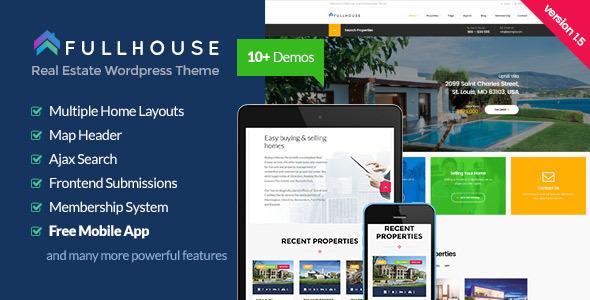 قالب FullHouse - قالب وردپرس املاک