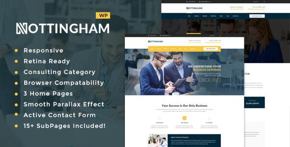 قالب Nottingham - قالب وردپرس کسب و کار، مالی و مشاوره