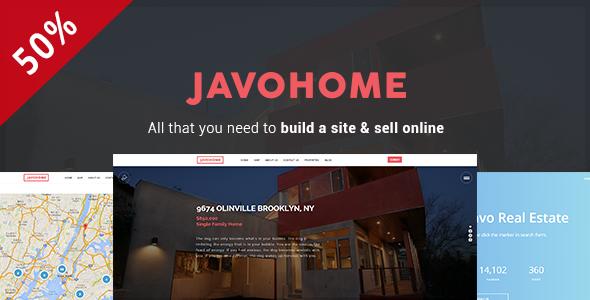 قالب Javo Home - قالب وردپرس املاک