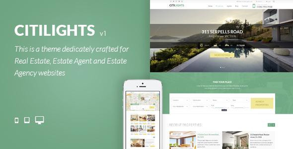 قالب CitiLights - قالب وردپرس املاک