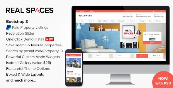قالب Real Spaces - قالب املاک برای وردپرس