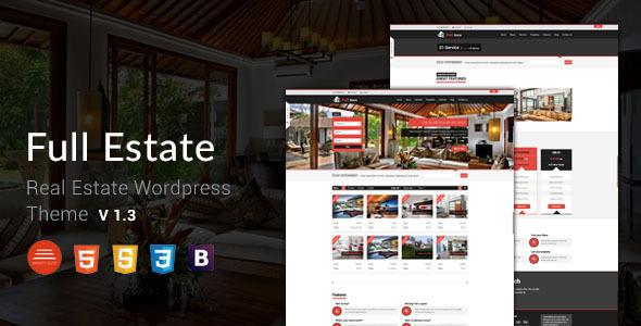 قالب Full Estate - قالب املاک برای وردپرس