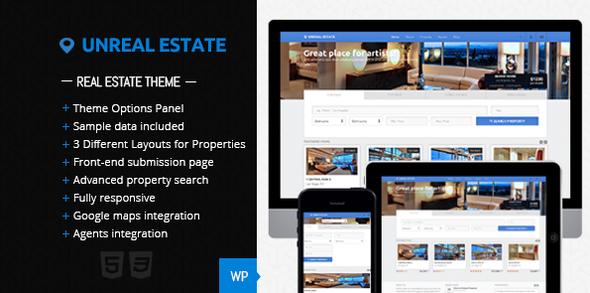 Unreal Estate - قالب وردپرس املاک