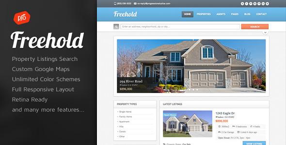 قالب فری هولد | Freehold - قالب املاک وردپرس