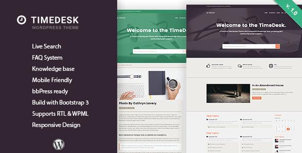 TimeDesk - قالب وردپرس پرسش و پاسخ و پایگاه دانش