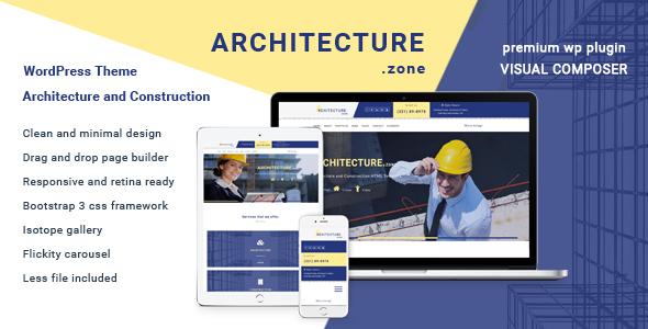 قالب Architecture Zone - قالب وردپرس معماری و ساخت و ساز