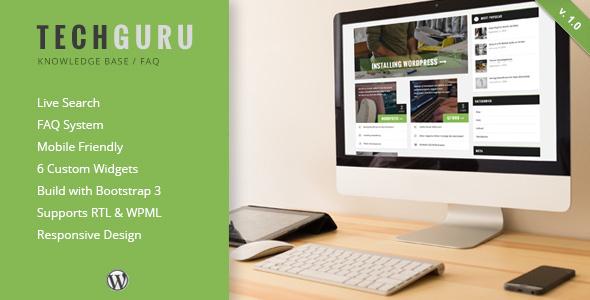 قالب TechGuru - قالب وردپرس پرسش و پاسخ و پایگاه دانش