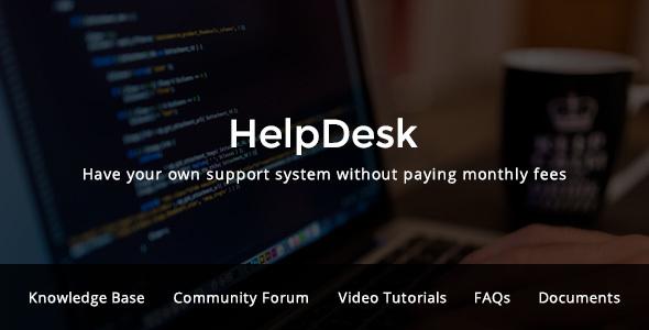 قالب HelpDesk - قالب سایت مرکز پشتیبانی