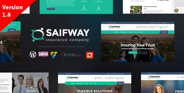 قالب Saifway - قالب وردپرس دفتر بیمه