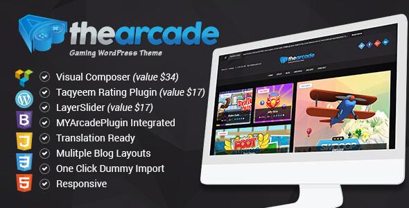 قالب The Arcade - قالب وردپرس گیمینگ