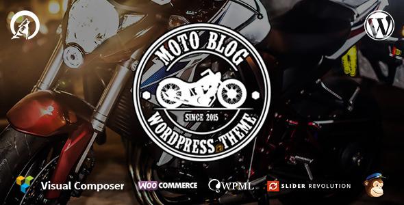 قالب Motoblog - قالب وردپرس عاشقان موتورسیکلت