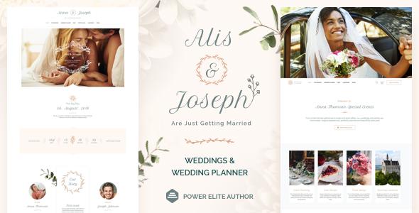 قالب Alis - قالب وردپرس خدمات عروسی