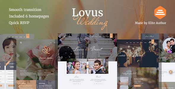 قالب Lovus - قالب وردپرس مراسم عروسی
