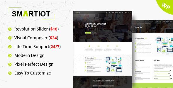 قالب SmartIOT - قالب وردپرس چند منظوره شرکتی
