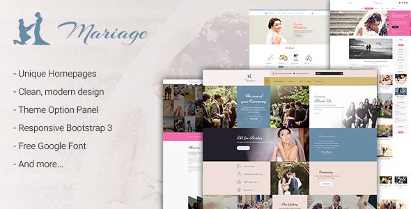 Wedding & Marriage - قالب وردپرس عروسی