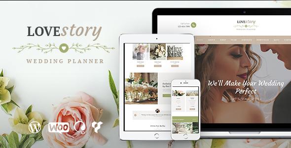 قالب Love Story - قالب وردپرس سایت خدمات عقد و عروسی