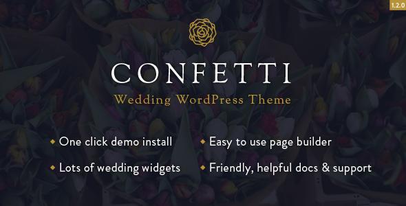 Confetti - قالب وردپرس عروسی