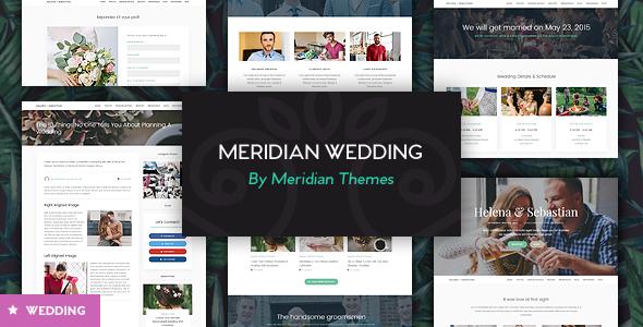 قالب Meridian Wedding - قالب وردپرس ازدواج