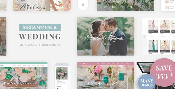 قالب Wedding Industry - قالب وردپرس عروسی