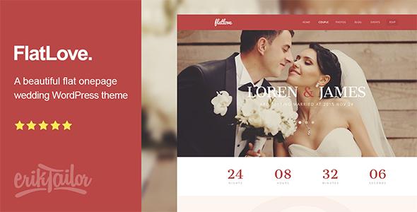 FlatLove - قالب وردپرس تک صفحه ای عروسی