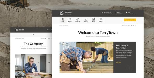 قالب Terrytown - قالب وردپرس ساخت و ساز و نوسازی