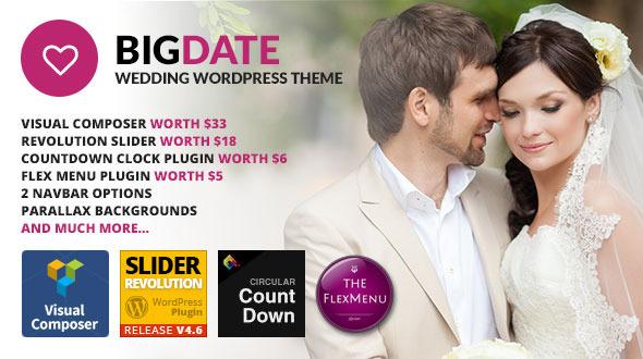 قالب Big Date - قالب وردپرس عروسی