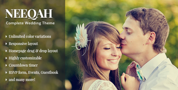 قالب Neeqah - قالب وردپرس عروسی