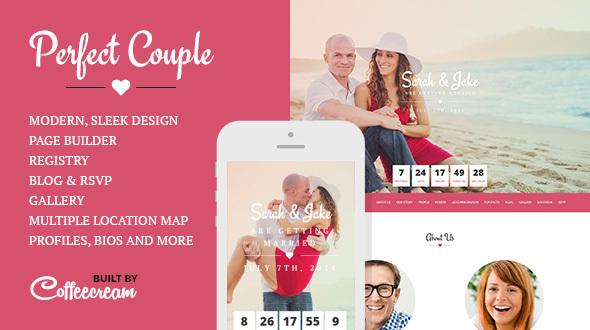 قالب Perfect Couple - قالب وردپرس عروسی