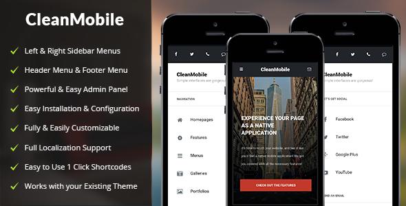 قالب Clean Mobile - قالب وردپرس موبایل