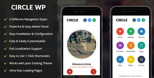قالب Circle Mobile - قالب وردپرس موبایل
