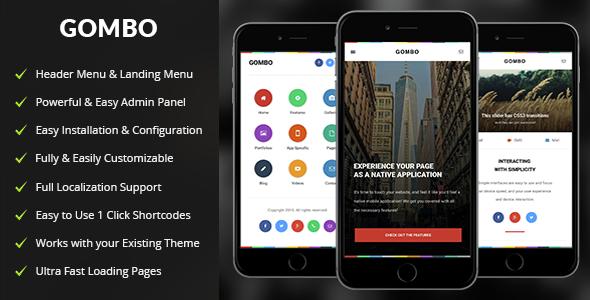 Gombo - قالب وردپرس موبایل