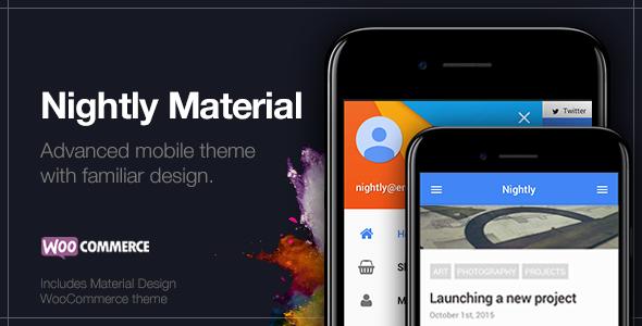 Nightly Material - قالب موبایل برای وردپرس