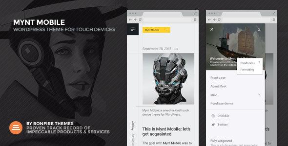 قالب Mynt Mobile - قالب وردپرس فوق العاده سریع موبایل