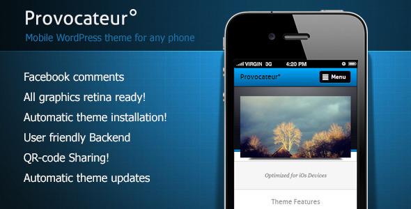 Provocateur - قالب وردپرس موبایل
