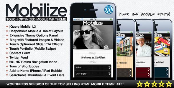 قالب Mobilize - قالب وردپرس موبایل