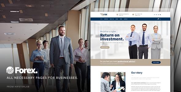 قالب Forex - قالب وردپرس کسب و کار مالی