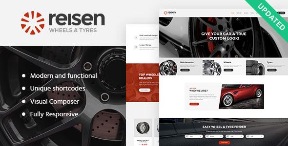 قالب Reisen - قالب وردپرس سایت مکانیکی و تعمیر خودرو