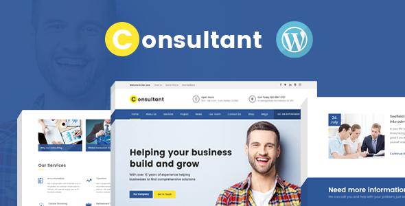 قالب Consultant - قالب وردپرس چند منظوره شرکتی