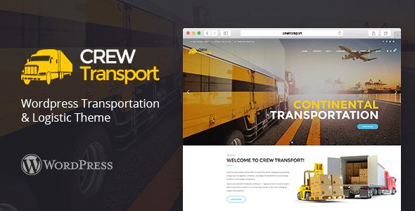 قالب Crewtransport - قالب حمل و نقل و لجستیک وردپرس