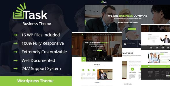 قالب Task - قالب وردپرس کسب و کار و شرکتی