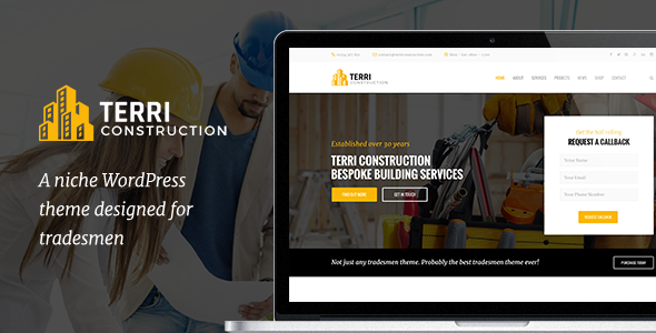 قالب Terri - قالب وردپرس ساخت و ساز