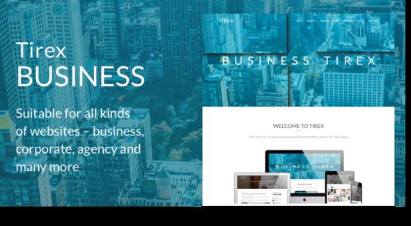 قالب Tirex Business - قالب وردپرس شرکتی